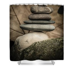 Stone Cairns Iv Shower Curtain