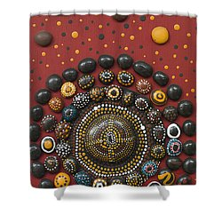 Stone Circle Shower Curtain