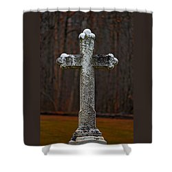 Stone Cross Shower Curtain