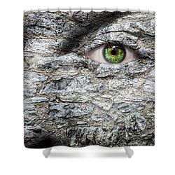 Stone Face Shower Curtain by Semmick Photo