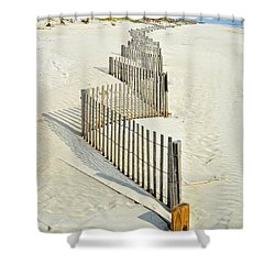 Stone Harbor Beach Shower Curtain by Joseph J Stevens