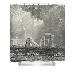 Stone Henge Shower Curtain by Joseph Mallord William Turner