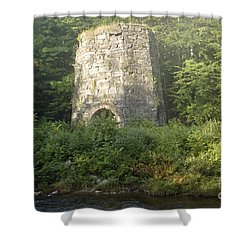 Stone Iron Furnace - Franconia New Hampshire Shower Curtain by Erin Paul Donovan