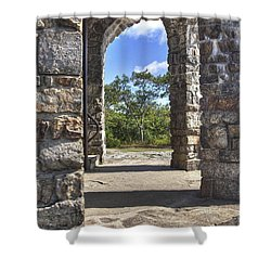 Stone Memorial  Shower Curtain by Larry Braun