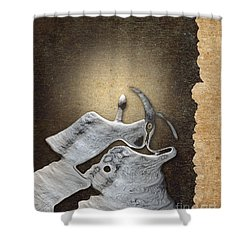 Stone Men 29 - Love Rythm Shower Curtain by Variance Collections