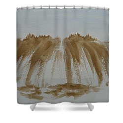 Stone Mountain Sketch Shower Curtain