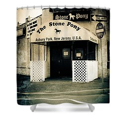 Stone Pony Shower Curtain by Colleen Kammerer