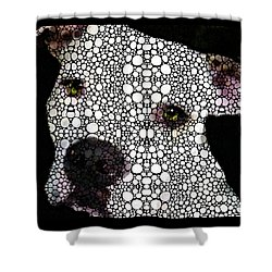 Stone Rock'd Dog By Sharon Cummings Shower Curtain