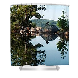 Shower Curtain featuring the photograph Stone Stacking by Joy Nichols