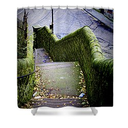 Shower Curtain featuring the photograph Stone Staircase by Craig B