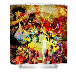 Stone Temple Pilots Original  Shower Curtain by Ryan Rock Artist