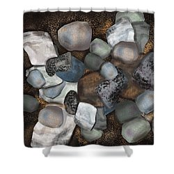 Stone Thoughts Shower Curtain by Christine Fournier