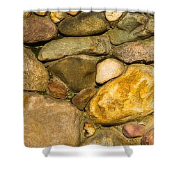 Stone Wall - Featured 3 Shower Curtain by Alexander Senin