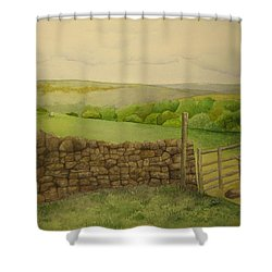 Stone Wall Shower Curtain by Jeff Lucas