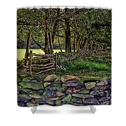 Stone Walled Shower Curtain
