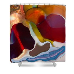 Shower Curtain featuring the painting Stoned by Omaste Witkowski