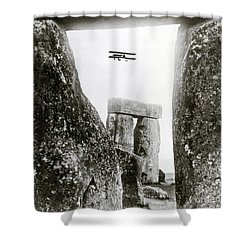 Stonehenge 1914 Shower Curtain by Science Source