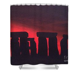 Stonehenge At Dusk Shower Curtain