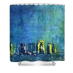 Stonehenge In Moonlight Shower Curtain