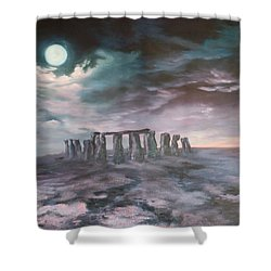 Stonehenge In Wiltshire Shower Curtain by Jean Walker