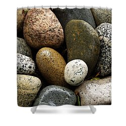 Shower Curtain featuring the photograph Stones by Carol Sweetwood
