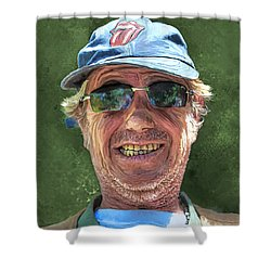 Stones Fan Shower Curtain by Rick Mosher