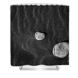Stones In The Sand Shower Curtain by Gunnar Orn Arnason