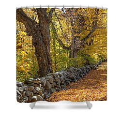 Stonewall In Autumn Shower Curtain by Donna Doherty