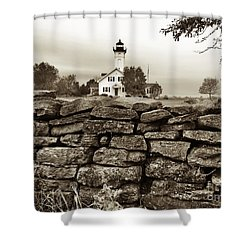 Stony Point Lighthouse Shower Curtain