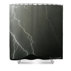 Shower Curtain featuring the photograph Stop Me When It's Through by J L Woody Wooden