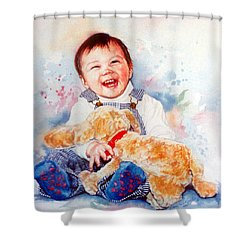 Stop Tickling Shower Curtain by Hanne Lore Koehler