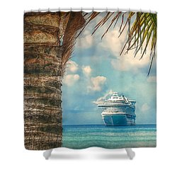 Stopover In Paradise Shower Curtain