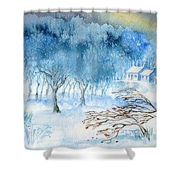 Stopping By Woods On A Snowy Evening Shower Curtain