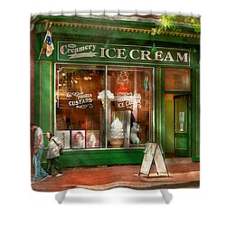 Store Front - Alexandria Va - The Creamery Shower Curtain by Mike Savad