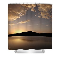 Storm Approaching At Sunset - Wichita Mountains Shower Curtain