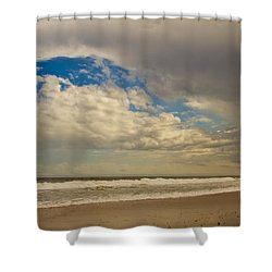 Storm Approaching Shower Curtain by Karol Livote
