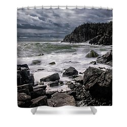 Storm At Gulliver's Hole Shower Curtain by Marty Saccone