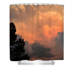 Storm At Sundown Shower Curtain
