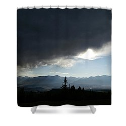 Storm Blows Over Shower Curtain by Jeremy Rhoades