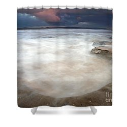 Storm Bowl Shower Curtain by Mike  Dawson