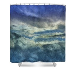 Storm Brewing Shower Curtain by Jack Zulli