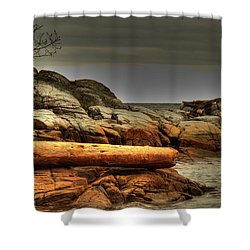 Storm Brewing Shower Curtain by Randy Hall