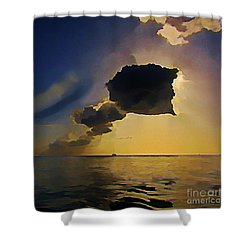 Storm Cloud Over Calm Waters Shower Curtain by John Malone