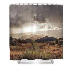 Storm Clouds Shower Curtain by Dianne Phelps