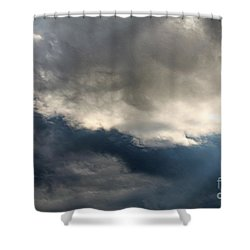 Storm Clouds Shower Curtain by J McCombie