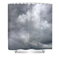 Storm Clouds Shower Curtain by Les Cunliffe