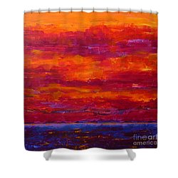 Storm Clouds Sunset Shower Curtain by Gail Kent