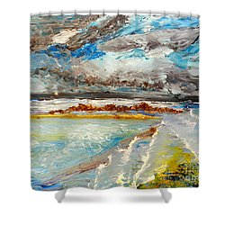 Storm Coming At Austinmer Beach Shower Curtain