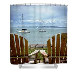 Storm Coming Shower Curtain by Mike Ste Marie