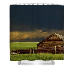 Storm Crossing Prairie 2 Shower Curtain by Robert Frederick